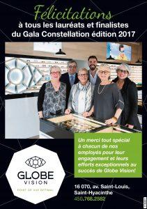 Gala Constellation - Globe Vision gagnant