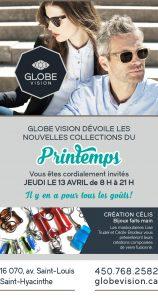 Globe Vision - grand dévoilement de ses nouvelles collections de lunettes et de solaires